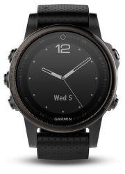 Garmin Fénix 5S Sapphire šedé s čiernym remienkom