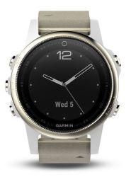 Garmin Fénix 5S Sapphire zlaté s šedým řemínkem