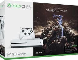 Microsoft Xbox One S 500 GB biely + Middle-Earth: Shadow of War