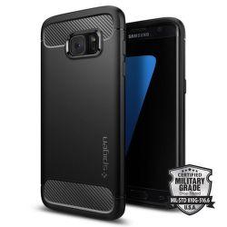 SPIGEN Samsung Galaxy S7 Edge Case Rugged Armor, čierna