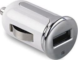 Celly Turbo USB 2,4 A autonabíjačka, biela