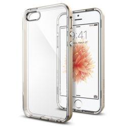 SPIGEN iPhone 5/5S/SE Case Neo Hybrid Crystal, zlatá