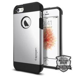 SPIGEN iPhone 5/5S/SE Case Tough Armor, strieborná