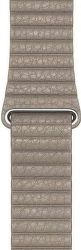 Apple Watch 44 mm kožený remienok Loop Strap L, kamenne sivá