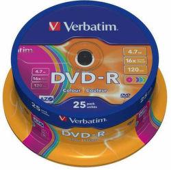 VERBATIM DVD-R 4,7 GB, 16x celofán 25 ks 43730