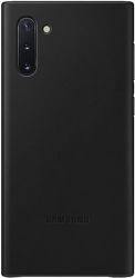 Samsung Leather Cover pre Samsung Galaxy Note10, čierna