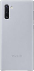 Samsung Leather Cover pre Samsung Galaxy Note10, sivá