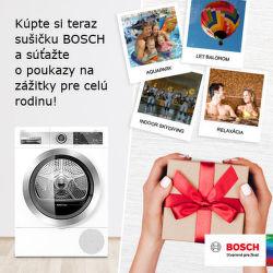 Súťaž o 200 € poukazy k sušičkám Bosch