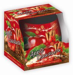 Sweet Home Jablko Škorica vonná sviečka