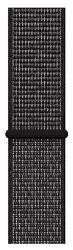 Apple Watch 44 mm Nike športový prevliekací remienok, čierny