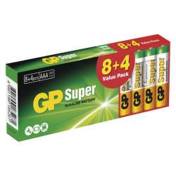 GP SUPER LR6 8+4PB AA 12 ks