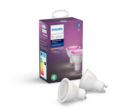 Philips Hue White and Color ambiance 5.7W GU10 set 2 ks