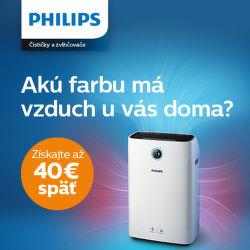Cashback až do 40 € na čističky vzduchu Philips