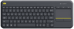 Logitech Wireless Touch Keyboard K400 Plus UK čierna