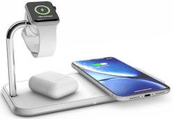 Zens Aluminium duálna bezdrôtová nabíjačka + Watch 10W, biela