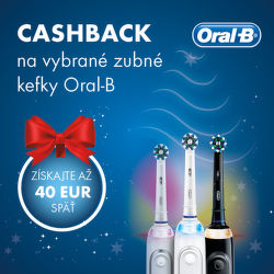 Cashback 40 € na zubné kefky Oral-B