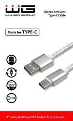 Winner dátový kábel USB-C 1 m biely