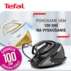 100 dní záruka vrátenia peňazí na parné generátory Tefal