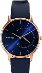 Withings Move Timeless Chic medené s modrým koženým remienkom