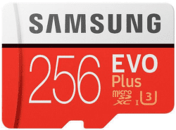 Samsung Micro SDXC 256 GB EVO Plus + SD adaptér