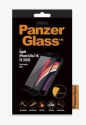PanzerGlass ochranné tvrdené sklo pre Apple iPhone SE 2020/8/7/6s/6, čierna