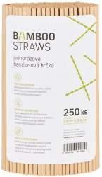 Bamboo Straws BS0623 bambusové slamky 250ks