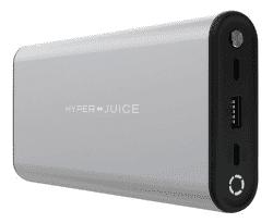 HyperJuice powerbanka 27 000 mAh strieborná