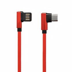 Mobilnet dátový kábel USB-C 2,7 A 1,5 m červená