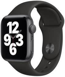Apple Watch SE 40 mm vesmírne sivý hliník s čiernym športovým remienkom