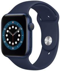 Apple Watch Series 6 44 mm modrý hliník s námornícky modrým športovým remienkom