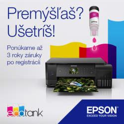 3-ročná záruka na tlačiarne Epson