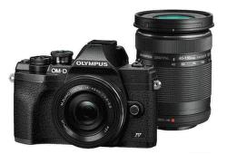 Olympus OM-D E-M10 Mark IV čierny + 14-42 mm f/3,5-5,6 EZ-M1442EZ Pancake + 40-150 mm f/4,0-5,6 EZ-M4015 R