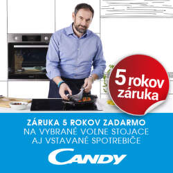 5-ročná záruka na spotrebiče Candy