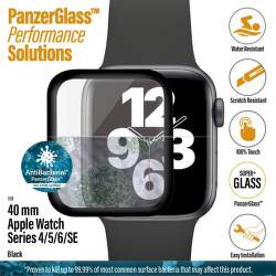 PanzerGlass ochranné sklo pre smart hodinky Apple Watch SE, series 4, 5 a 6 40 mm čierna