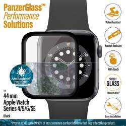 PanzerGlass ochranné sklo pre smart hodinky Apple Watch SE, series 4, 5 a 6 44 mm čierna