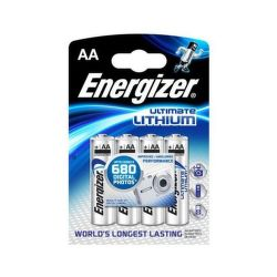 Energizer Ultimate Lithium AA FR6, 4ks