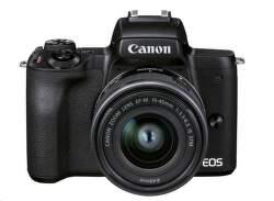 Canon EOS M50 Mark II + EF-M 15-45mm IS STM + EF-M 55-200mm IS STM čierny
