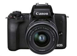 Canon EOS M50 Mark II + EF-M 15-45mm f/3.5-6.3 IS STM čierny