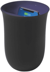 Lexon Oblio Qi 10 W UV čierna