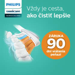 90 dní záruka vrátenia peňazí na zubné kefky Philips Sonicare