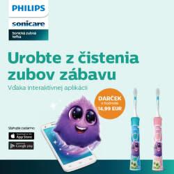Darček k detským zubným kefkám Philips Sonicare