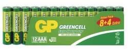 GP Greencell AAA zinkové batérie 12ks