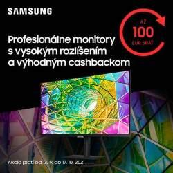 Cashback až do 100 € na monitory Samsung