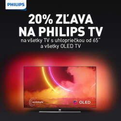 20% zľava na vybrané TV Philips