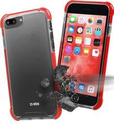 SBS Hard Shock puzdro pre iPhone 8 Plus/7 Plus, červená
