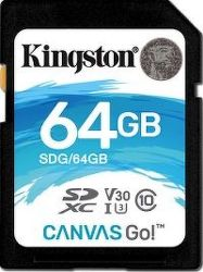 Kingston SDXC 64 GB Canvas Go UHS-I U3