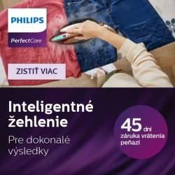 45 dní záruka vrátenia peňazí na parné generátory a žehličky Philips