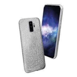 SBS Sparky Glitter puzdro pre Galaxy S9+, strieborné