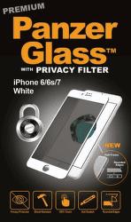 PanzerGlass Premium Privacy tvrdené sklo pre iPhone 8/7/6/6s, biele