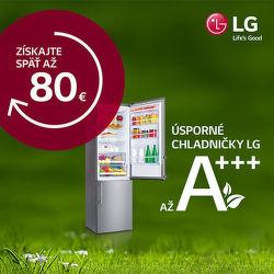 Cashback až do 80 € na vybrané chladničky LG